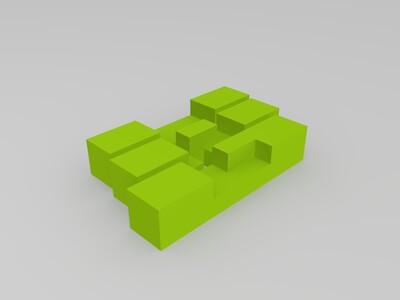 鲁班锁一-3d打印模型