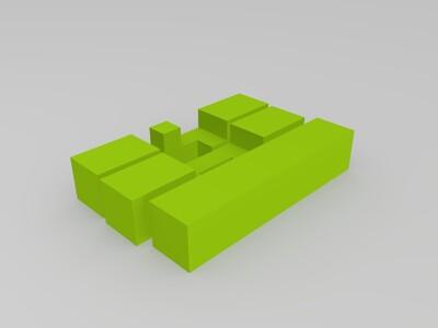 鲁班锁2-3d打印模型
