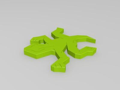 壁虎拼图-3d打印模型