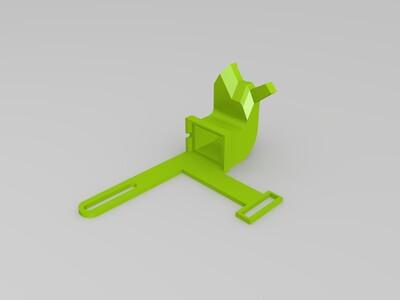 可以上下位置微调的涡轮风扇吹风头-3d打印模型