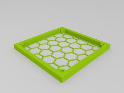 12cm電腦機殼防塵罩-3d打印模型