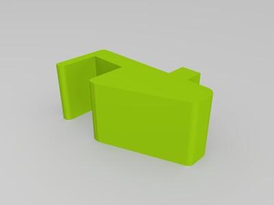 适合书架的耳机挂钩-3d打印模型
