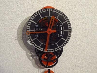 机械钟-3d打印模型