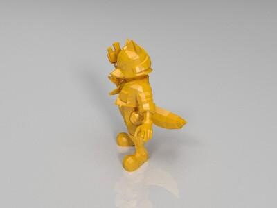 邪恶的狐狸-3d打印模型
