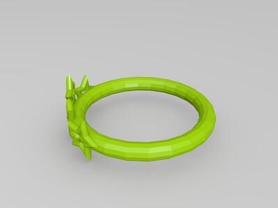 星星戒指-3d打印模型