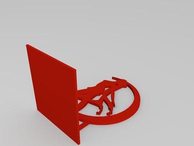 美少女 书立-3d打印模型