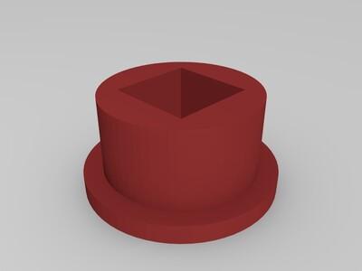 手摇式转动齿轮爱心-3d打印模型