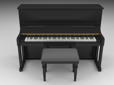 钢琴-3d打印模型
