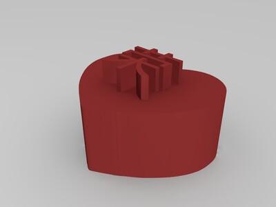 组合型心形戒指印章-3d打印模型