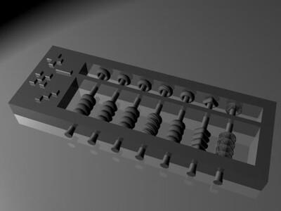 以前的算盘-3d打印模型