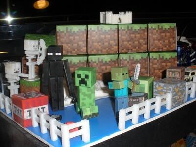 我的世界骷髅玩具(7个)-3d打印模型