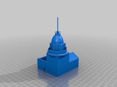 伊斯坦布尔的克兹塔-3d打印模型