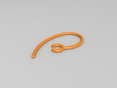 蓝牙耳机挂件-3d打印模型