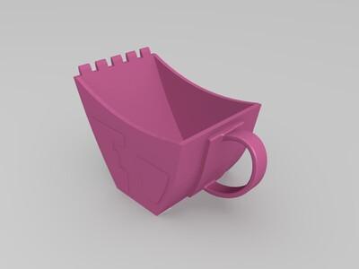 挖掘机水杯-3d打印模型