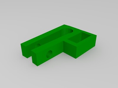 8mm光轴小限位开关-3d打印模型