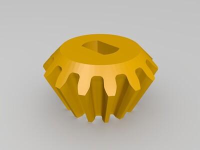 齿轮传动系统-3d打印模型