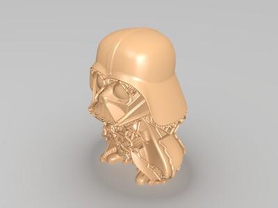 星球大战 达斯维达 萌版-3d打印模型