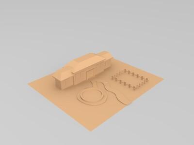 花园小屋-3d打印模型
