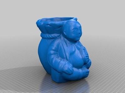 佛像笔筒-3d打印模型
