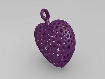 心型吊坠-3d打印模型
