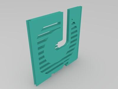 M字耗材支架-Modular_Rack_Spool_Holder-3d打印模型