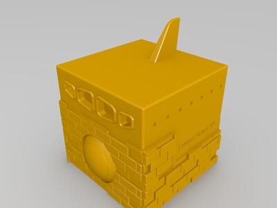 方块航天飞机-3d打印模型