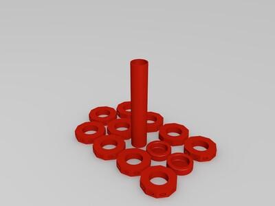 数学微调器-3d打印模型