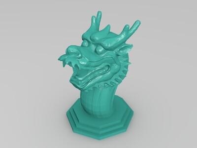 带底座龙头-3d打印模型