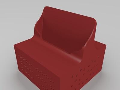 小米5sPlus带音响简单底座支架-3d打印模型