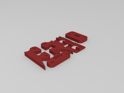 Axidraw写字机器人相关打印件-3d打印模型