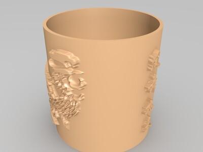 凤舞九天笔筒-3d打印模型
