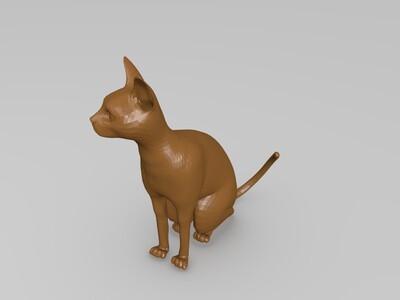 小猫-3d打印模型