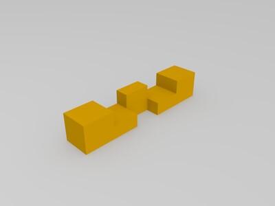 十四柱鲁班锁-3d打印模型