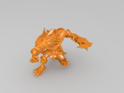 战斗的鳄鱼-3d打印模型