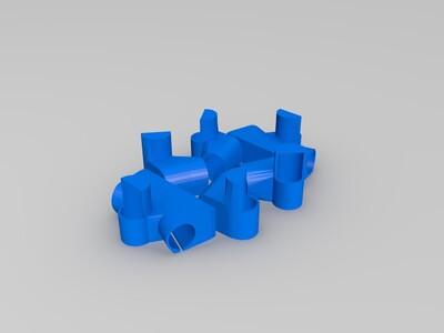 简易桌子--桌腿连接件-3d打印模型
