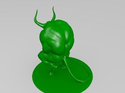 冥想的恶魔-3d打印模型