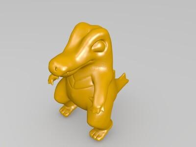 k-小锯鳄-3d打印模型