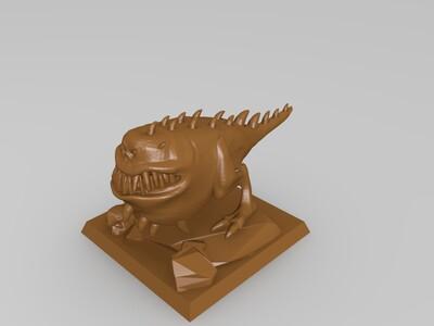 怪物吃骨头-3d打印模型