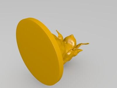 写实怪物雕塑-3d打印模型