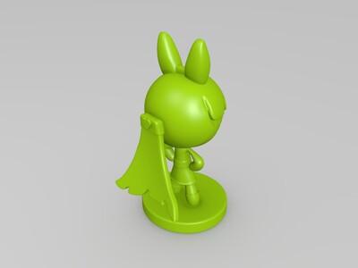飞天小女警花花-3d打印模型