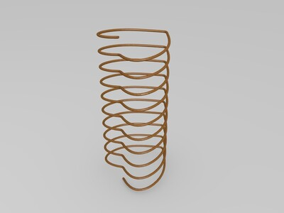 爱心弹簧-3d打印模型