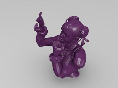 街头霸王李春-3d打印模型