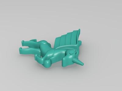 独角马-3d打印模型