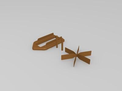 玩具小船-3d打印模型