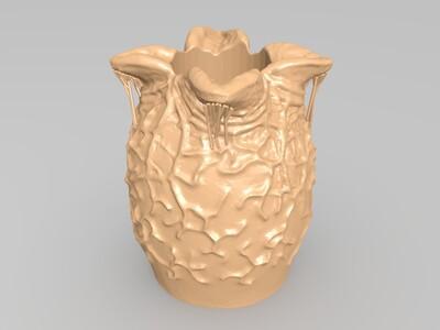 异形卵 笔筒-3d打印模型