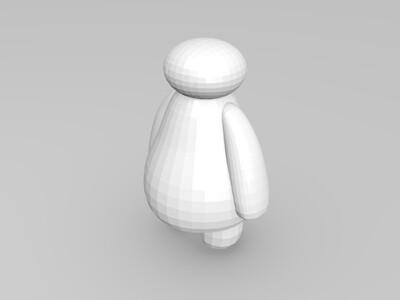 大白-3d打印模型
