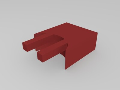 um后背耗材支架模型-3d打印模型