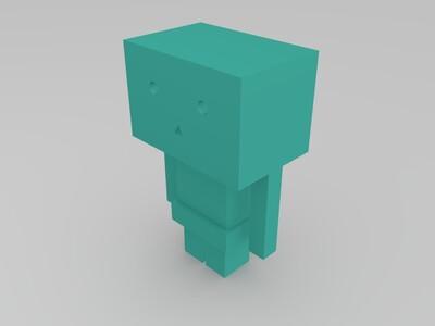 纸盒人-3d打印模型