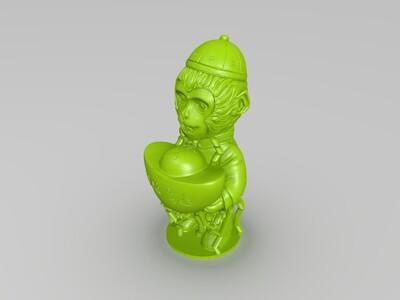 恭喜发财-3d打印模型