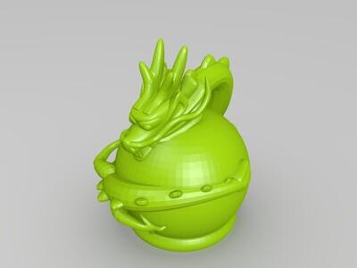 龙LED灯-3d打印模型